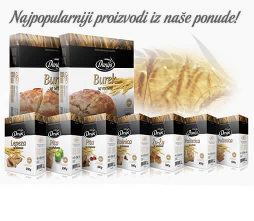 Proizvodi │ Fabrika pekarskih proizvoda Danija